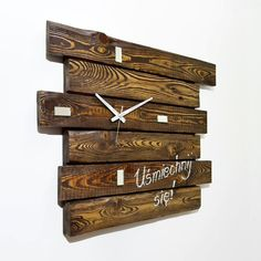 Wall Clock Made of Pallets | 101 Pallets