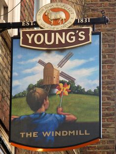 Sign of the Windmill pub, Mill Street, near Oxford Circus, London by Thorskegga, via Flickr
