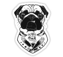 Tattooed Dog - Pug Sticker