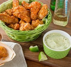 Farm Rich's Buffalo Wings and Avocado Ranch Dip are a match made in heaven! This simple and tasty recipe will make you wonder why you haven't tried the two together sooner!