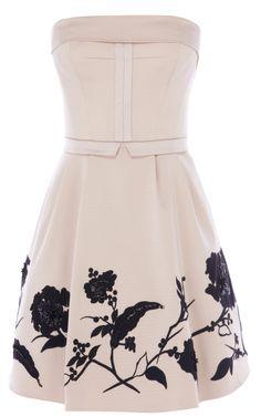 Placed flower prom dress - Karen Millen