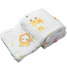 Lovely Animal Printing, attractive for baby. Have more fun during shower.High quality of muslin cotton, soft, Healthy, Absorbent, Easy washable and Dryable.Size: 105cm*105cm. large enough to wrap baby, not to make them fell cold when out of shower.Special honeycomb embossing, Absorption speed boost 3 times. more keep baby warm. not to get cold.Multifunction for baby. can be used to be baby swaddle, blankets, baby stroller blanket and so on.