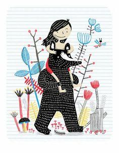 "illustrated by ""elise gravel"" seen on vlinspiratie.blogspot.com #illustration"