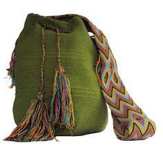 Green Wayuu Bag/Mochila Wayuu Verde