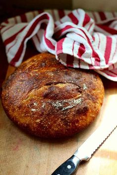 You are going to love this no knead sourdough bread. Tangy and chewy goodness right from your kitchen! From RestlessChipotle.com