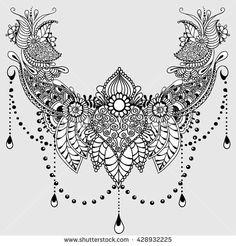 Mandala India: Tattoo design template with mehndi elements. verziert Mandala India: Tattoo design template with mehndi elements. Mandala Tattoo Design, Mandala Hand Tattoos, Lotus Flower Tattoo Design, Henna Tattoos, Flower Tattoos, Body Art Tattoos, Mehndi Tattoo, Tatoos, Half Mandala Tattoo