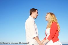 Ask your photographer to try this shot for your engagement pictures!