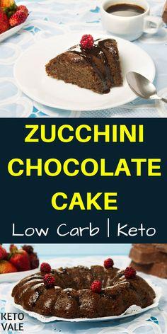 Keto Zucchini Chocolate Cake Low Carb Sugar Free Recipe