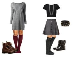 Effy Inspired Outfits w/ Knee Socks *Requested by Anonymous* Links HERE Effy Stonem, Alternative Fashion, Alternative Style, Knee Socks, Character Outfits, Shopping Spree, Grunge Fashion, I Dress, Winter Outfits