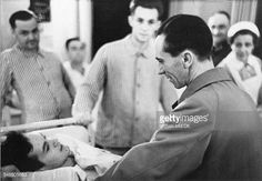 Goebbels Joseph Politician NSDAP Germany *29101897 is visiting wounded soldiers in a base hospital in Berlin 1939 Photographer PresseIllustrationen...