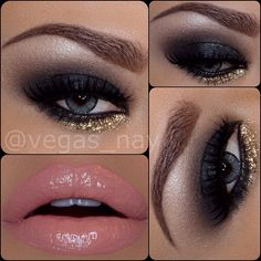 vegas_nay- #gold #mua #makeup #eyes #lips #sexy #smoldering