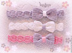 Шапки и шарфы ручной работы. Ярмарка Мастеров - ручная работа. Купить Повязка для девочки «Бантики». Handmade. Повязка на голову