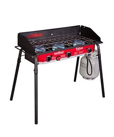 FEATURES of the Camp Chef Tahoe 3 Burner Stove X cooking area square inches) 3 Aluminum burners total BTU/hr Detachable legs Windscreen included cooking he… Best Camping Stove, Camping Car, Camping With Kids, Camping Kitchen, Camping Jokes, Camping Cooking, Camping Ideas, Stove Board, Cooking For A Group