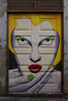 Painted doors: Blowing a kiss by ~Eldhimmel