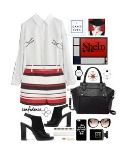 """""""Neat elegance ^"""" by red-fashion ❤ liked on Polyvore featuring Dolce&Gabbana, Michael Kors, Pink Haley, Accessorize, Gucci, Kate Spade, crazyforfashion and shein"""