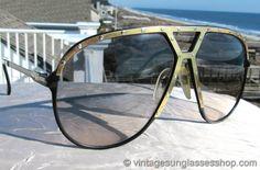 Vintage Alpina M1 Black and Gold Sunglasses @ Vintage Sunglasses Shop