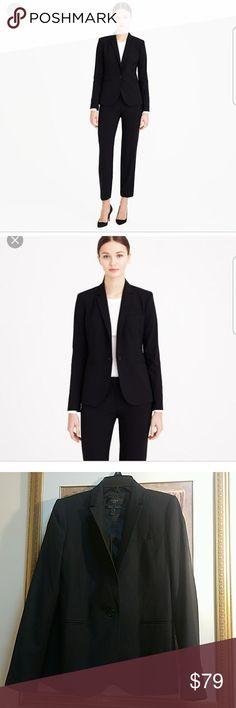 J.CREW SUPER 120'S BLACK BLAZER SIZE 4 PERFECT CONDITIONS. IT IS LIKE NEW J. Crew Jackets & Coats Blazers