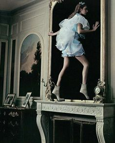 Natalia Vodianova in Alice In Wonderland by Annie Leibovitz for Vogue US