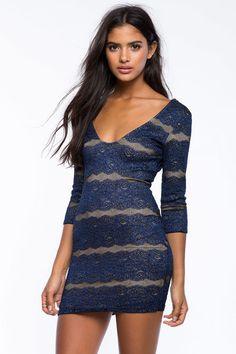 Glitz Lace Bodycon Dress