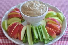Peanut butter dip.  I can't dip apples, but I can think of some other great veggies to dip here! I would low carb this using a brown sugar sub, and cream instead of milk
