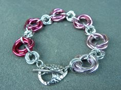 Donating profits! Avon Walk 4 Breast Cancer '13.  Gradient Pink Chainmaille Mobius Weave Bracelet by Dajamana, $49.00
