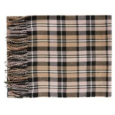 Women's Topshop Plaid Blanket Scarf ($35) ❤ liked on Polyvore featuring accessories, scarves, woven scarves, tartan blanket scarf, topshop scarves, fringe scarves and fringe shawl