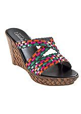 Woven Mules Love the colours on these! Cruise Wear, Wedges, Colours, My Favorite Things, Sandals, Shopping, Shoes, Collection, Fashion