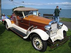 1927 Hudson : Great Sunday car show in Bellingham, nice day and beautiful machines. This wooden Boat-Tailed Hudson was my favorite! Built by Tom Peterson of Bellingham from a car without a body being used as a tractor. Audi, Vintage Cars, Antique Cars, Hudson Car, Automobile, Auto Retro, Roadster, Cabriolet, Old Trucks