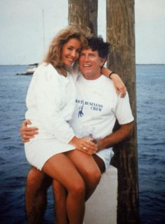 """On June 1987, the National Enquirer ended Gary Hart's '88 presidential bid, publishing a photo of Donna Rice and the Democratic Colorado senator in the Bahamas. [[MORE]] The t-shirt says """"Monkey Business crew"""", the name of the yacht they were..."""