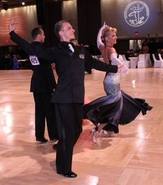 The Viennese Waltz danced by Mikolaj Czarnecki and Charlene Proctor at the United States Dancesport Championships in Orlando, Florida 2013.  Photo by Park West Photography.