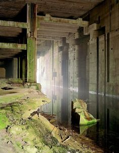U-Boot Bunker Valentin, Rekum (Bremen), (unfinished). Photography by Silke Schmidt Abandoned Buildings, Abandoned Places, Ligne Siegfried, Bunker For Sale, Underground Bunker, Environment Concept Art, Fantasy Landscape, Brutalist, Countries Of The World
