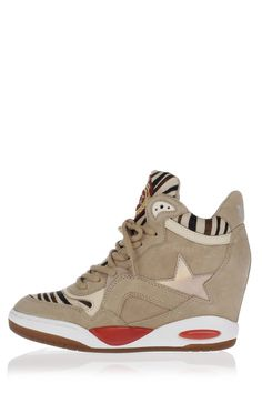 finest selection abede ad9b7 ASH Sneakers BLING BIS con Zeppa interna in Pelle e Cavallino donna -  Glamood Outlet time