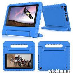 BLUE Kids Shock Proof EVA Foam Handle Case for Amazon Kindle Fire HD 7 2015