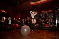 Catrice Cat performing Sexercize at Open Stage Night in Vienna. Photo by Severin Dostal