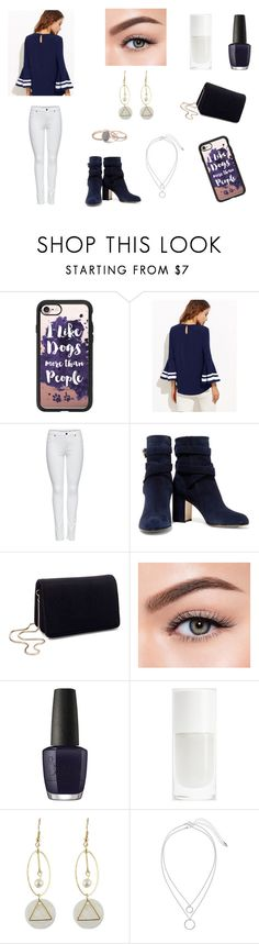"""""""I like dogs more than parts people"""" by xgalaxyunicornx on Polyvore featuring Casetify, M&Co, Gianvito Rossi, Miss Selfridge, Morphe, OPI and H&M"""