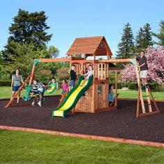 Saratoga Wooden Swing Set