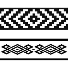 guardas pampa - ploteo de camionetas Hand Embroidery Patterns, Beading Patterns, Estilo Mehndi, Aztec Symbols, Maori Patterns, Native American Patterns, Maori Designs, Native Design, New Animal Crossing