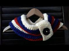 # DY# TUTORIAL CUELLO CIRCULAR O BUFANDA A CROCHET - YouTube Neck Warmer, Diy Tutorial, Crochet Baby, Beanie, Knitting, Ideas Para, Scarves, Videos, Youtube