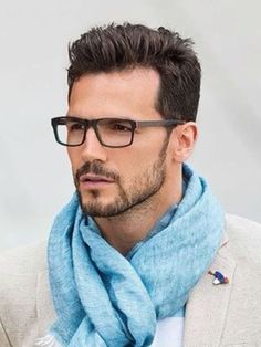 Short beard style > facial stubble. A handsome man with perfect hair!