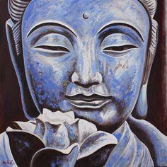 "Buddha peace  36x36"" oil on canvas by drago milic"