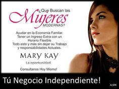 La oportunidad Mary Kay es Excelente, descubre todo lo que Mary Kay tiene para nosotras, contactame para poder mostrarte mas sobre mi y esta bella compañía! http://www.marykay.es/sefora/