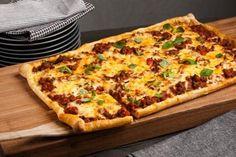 Familiefavoritten - Langpannepizza Hawaiian Pizza, Pepperoni, Vegetable Pizza, Nom Nom, Food Porn, Vegetables, Vegetable Recipes, Veggies, Treats