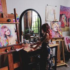 Charmaine Olivia's art studio