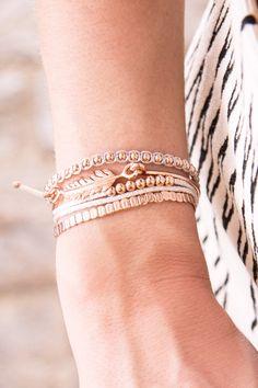 DIY Armbänder in Roségold