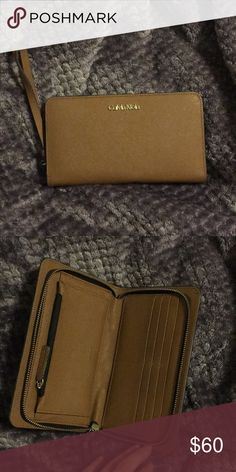 Leather Calvin Klein wallet Large leather Calvin Klein wallet Calvin Klein Bags Wallets