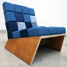 REdesigned chair with old jeans