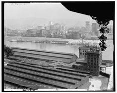 The View from Mount Washington. Pittsburghers could, and still can, reach the top of Mount Washington via the Duquesne Incline or the Monongahela Incline.