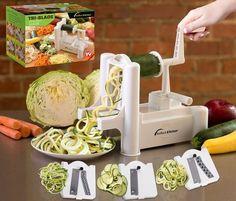 iPerfect Tri-Blade Vegetable Spiralizer Envy Spiral Slicer – Zucchini Spaghetti Pasta Maker