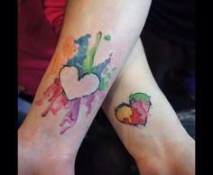 Matching tattoo cute couple tattoo #inked #tattoo