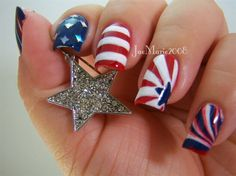 memorial day acrylic nails